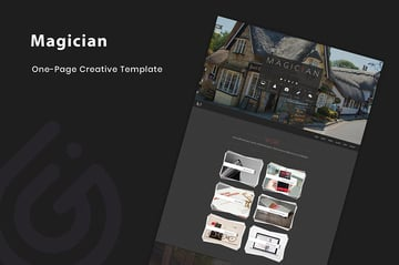 Magician Landing Page HTML5