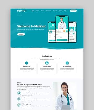 Mediyot Responsive Landing Page