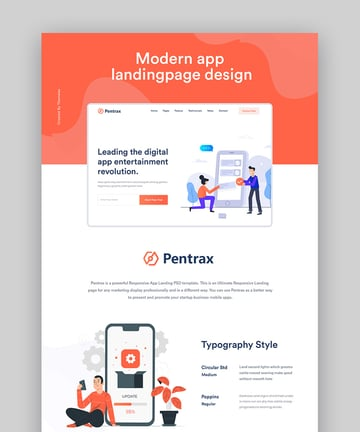 Pentrax HTML5 Landing Page Template