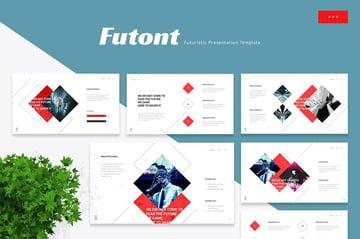 Futont Futuristic PPT Template