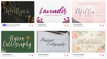 Calligraphy Letters Font Downloads at Envato Elements