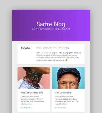 Sartre Email Newsletter Design