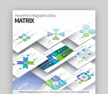 Matrix Infographic PowerPoint Slides