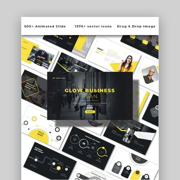 Glow Business Plan effective PowerPoint Template