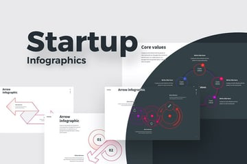Startup Infographic Flowchart Template