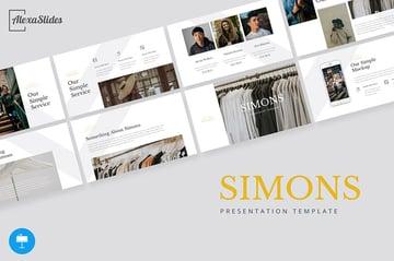 Simons Beispiel-Keynote-Präsentation für Mode