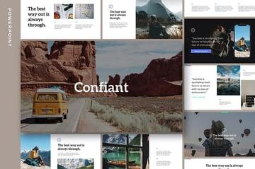 Confiant Simple PowerPoint Background