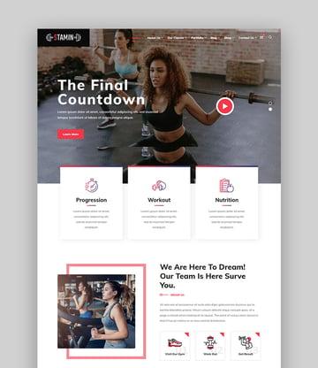 Stamin WordPress Fitness Template