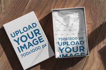 Packaging Mockup With T Shirt Mockup