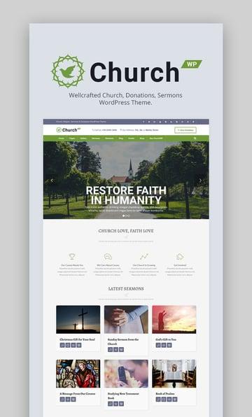 ChurchWP Contemporary WordPress Theme