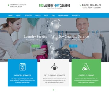 Laundry Dry Cleaning Services WordPress Theme