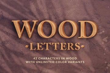 Photoshop Wood Letters