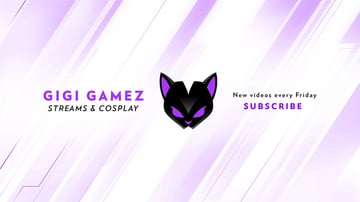 YouTube Channel Art Template Cosplay Channel