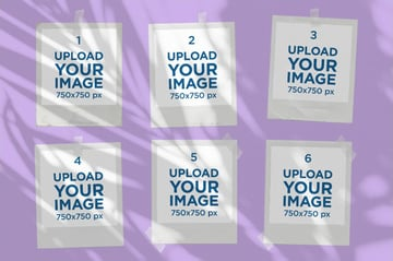 Polaroid Image Template PNG