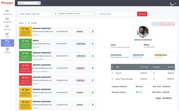 Appointo PHP Calendar Booking Management System Admin Dashboard