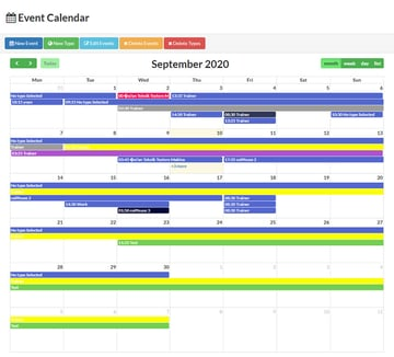 Calendar PHP With Events