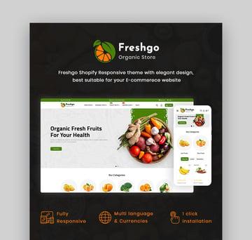 FreshGo Online Grocery Shop Website Template
