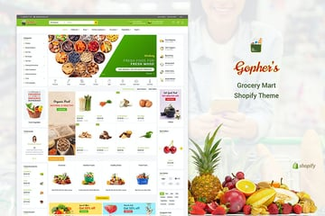 Gophers Supermarket Grocery Theme for Shopify