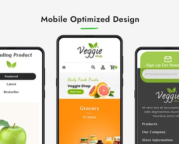 Veggie Shopify Online Grocery Shop Template