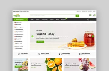 Vegist - The Vegetables Organic Food eCommerce Shopify Theme
