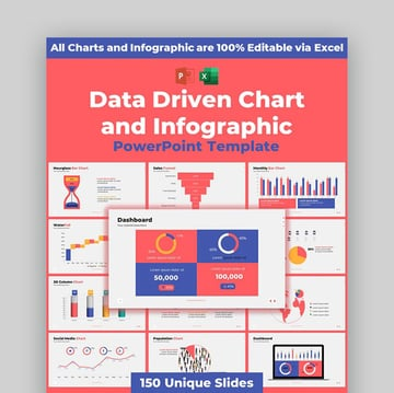 Data Driven Chart Sales PPT Template