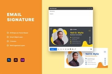 Email Signature PSD Template