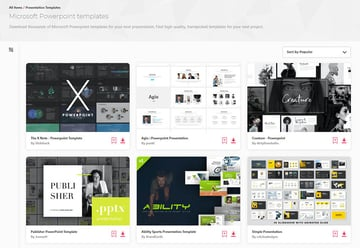 Envato Elements Aesthetic Template PPT PowerPoint Presentations