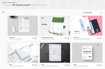 Best Simple Invoice Template Word Doc on Envato Elements for 2021
