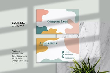 Aesthetic Business Cards With Abstract Decoration