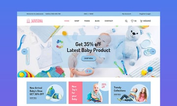 Jadusona - eCommerce Baby Shop Bootstrap4 Web Design Template