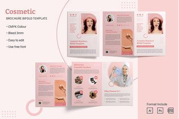 Cosmetic Bifold Brochure Template