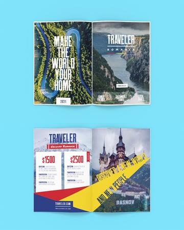 Tourism Pamphlet Brochure Design Tutorial Illustrator