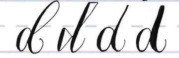 Make your own font- lowercase d style variations