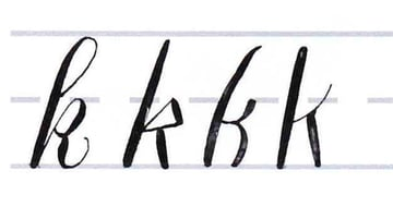 How to Write Calligraphy Letters Tutorial make your own font-lowercase letters like h