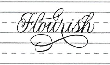 """""""flourish"""" flourished"""
