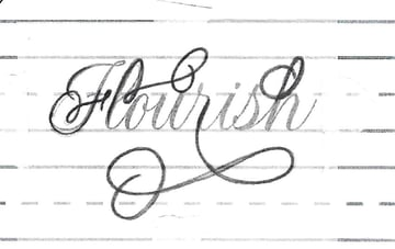 """""""Flourish"""" with Tracing paper"""