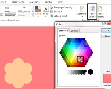 Setting a page background color