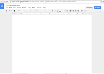 Starting with a blank document