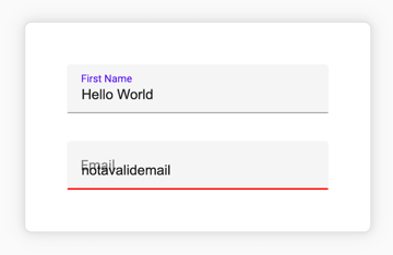 invalid email input