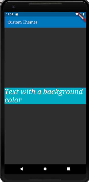 Flutter app with colors and background