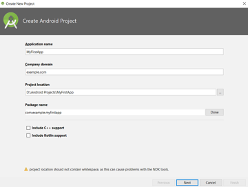 Create Android Project