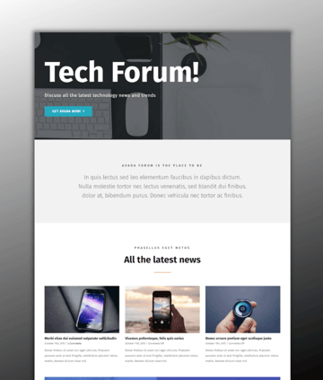 The Avada theme - a powerful website builder for WordPress