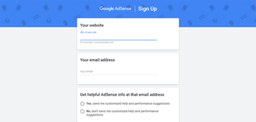 email address and website url