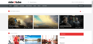 VideoTube - a magazine WordPress theme for video streaming