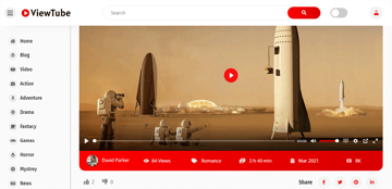 ViewTube is a wordpress theme like youtube website