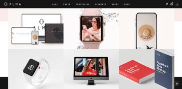 Alma - a multi-purpose WordPress theme with a minimalistic design