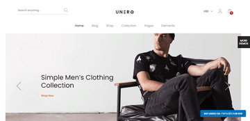 Unero - elegant minimalist wordpress theme