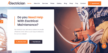 Electrican - a powerful WordPress theme for electrician servises