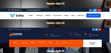 Header and Footer builder for WordPress websites