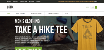 Crux is a beautiful WordPress theme for online stores